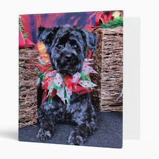 Christmas - YorkiePoo - Lucy Binder