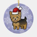 Christmas Yorkshire Terrier (short hair no bow) Christmas Tree Ornaments
