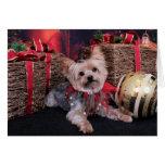 Christmas - Yorkshire Terrier - Vinnie Card
