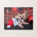 Christmas - Yorkshire Terrier - Vinnie Jigsaw Puzzles