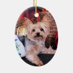 Christmas - Yorkshire Terrier - Vinnie Ornament