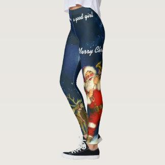 Christmas Your NAME Leggings Santa Jogging Pants