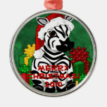 Christmas Zebra Ornament