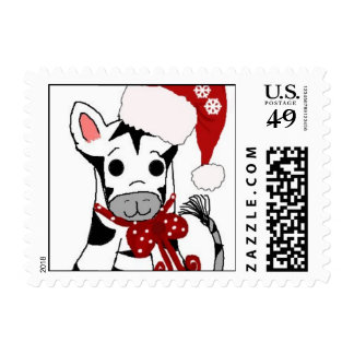 Christmas Zebra Stamp
