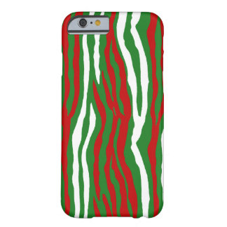 Christmas Zebra Stripes Barely There iPhone 6 Case