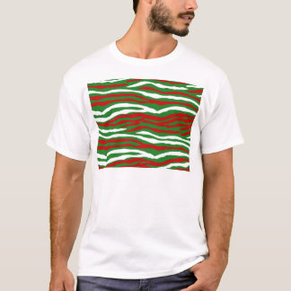 Christmas Zebra Stripes T-Shirt