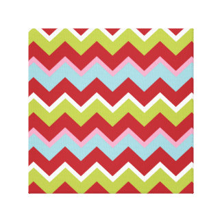 Christmas Zigzag Pattern Canvas Prints