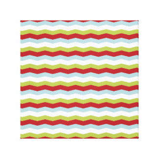 Christmas Zigzag Pattern Gallery Wrap Canvas