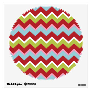 Christmas Zigzag Pattern Room Graphics