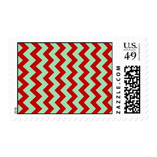 Christmas Zigzag Stamps
