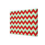 Christmas Zigzag Stretched Canvas Prints