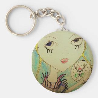 Christmas Zombie Princess Basic Round Button Keychain
