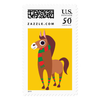 Christmas Zora the Horse Postage