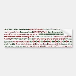ChristmasAroundTheWorld TextDesign BumperSticker Bumper Sticker