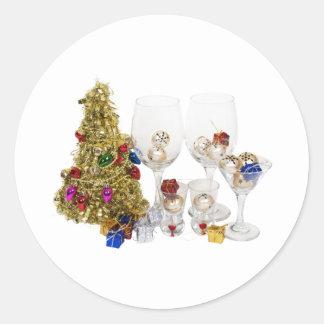 ChristmasCheer053110 Classic Round Sticker