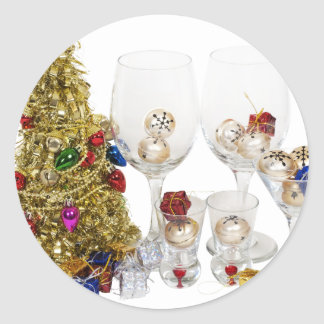 ChristmasCheer053110 Pegatina Redonda