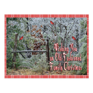 ChristmasPostcard-personalizar pasado de moda Postal