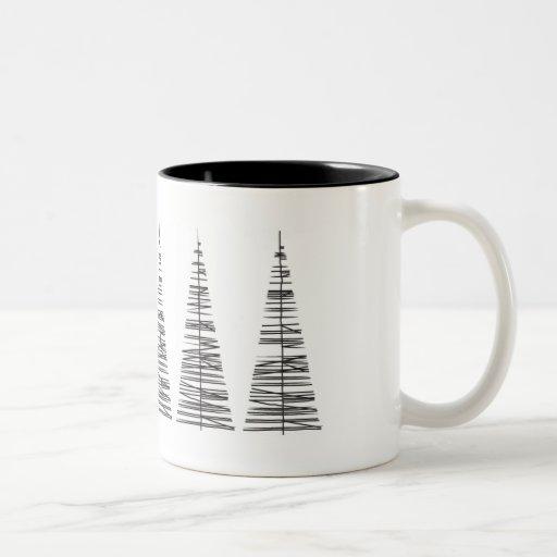 Christmass Trees in a row Coffee Mug