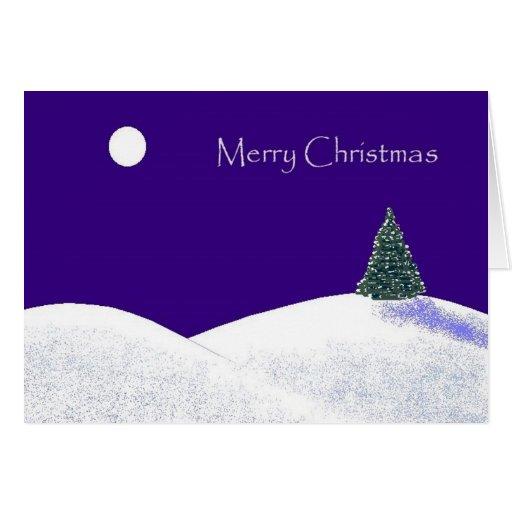 ChristmasSnowPainting Greeting Card