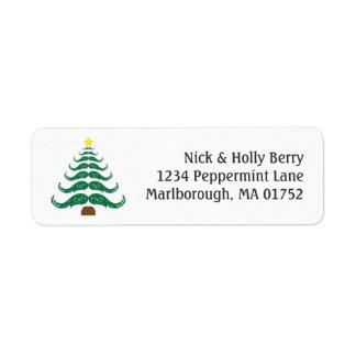 Christmastache Tree Label