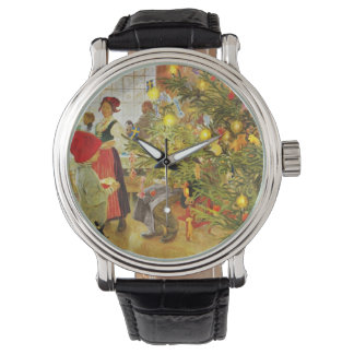 Christmastime Again little boy and Julgran Wrist Watches