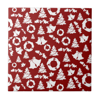 CHRISTMASTIME - DEEP RED ~ SMALL SQUARE TILE