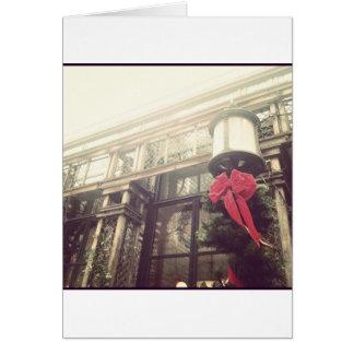 Christmastime en la ciudad tarjeta de felicitación