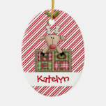Christmastime Reindeer Noel Gift Christmas Ornament