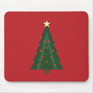 CHRISTMASTIME TREE RED MOUSE PAD