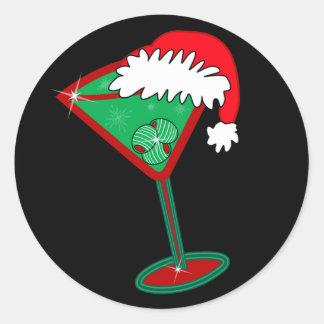 Christmastini Classic Round Sticker