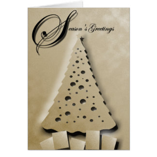 ChristmasTree in Gold Relief Greeting Card