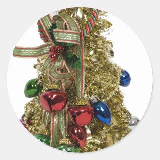 ChristmasTreeBells053110 Classic Round Sticker