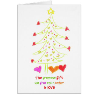 ChristmasTreeLove Stationery Note Card
