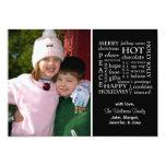 Christmasy redacta la tarjeta de Navidad (el Invitación 12,7 X 17,8 Cm