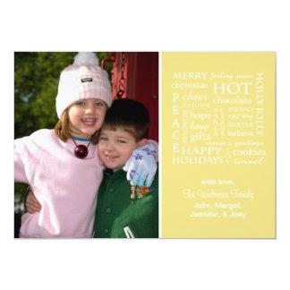 Christmasy redacta la tarjeta de Navidad (el oro) Invitación 12,7 X 17,8 Cm