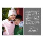 Christmasy redacta la tarjeta de Navidad (gris) Invitación 12,7 X 17,8 Cm