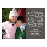 Christmasy redacta la tarjeta de Navidad (gris osc Comunicados Personales