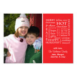 Christmasy redacta la tarjeta de Navidad (roja) Invitación 12,7 X 17,8 Cm