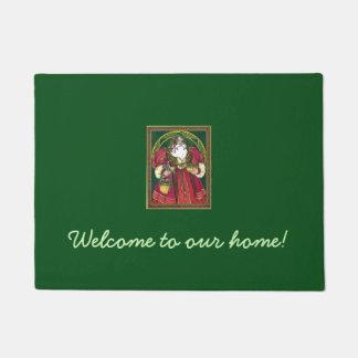 Christmasy St Nicholas Welcome Door Mat
