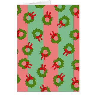 Christmasy Wreaths Card