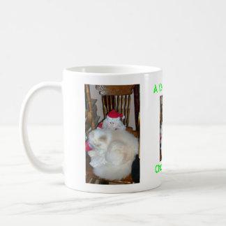 christmouse mewy a maullar taza básica blanca