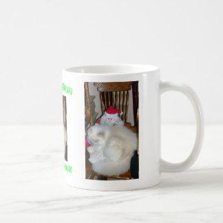 christmouse mewy a maullar taza de café