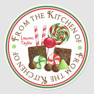 Christms Candy Holiday Stickers