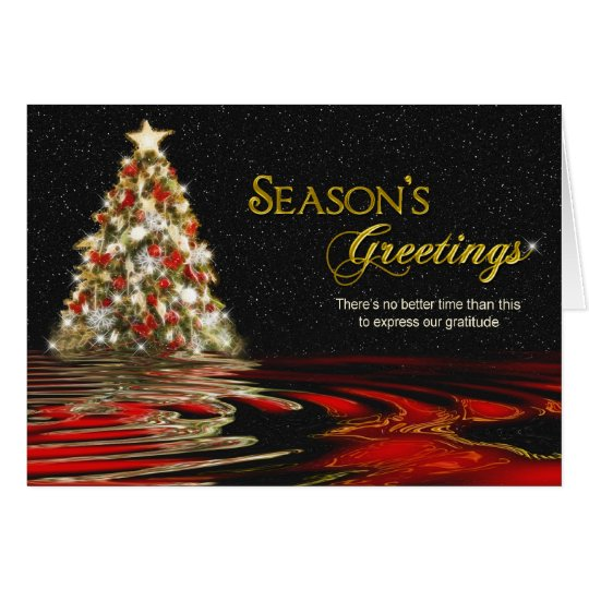 Christms tree Business Greeting Card