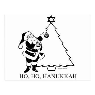CHRISTMUKKAH TREE POSTCARD