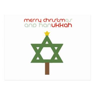 CHRISTMUKKAH TREE POST CARD