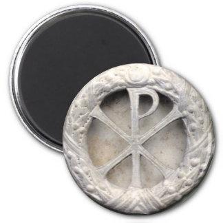 Christogram antiguo imán redondo 5 cm