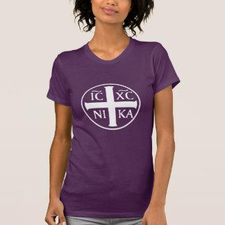 Christogram ICXC NIKA Jesus Christ Conquers Shirt