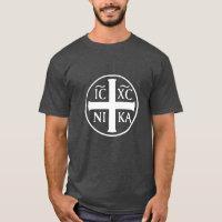 Christogram ICXC NIKA Jesus Conquers Christian T-Shirt