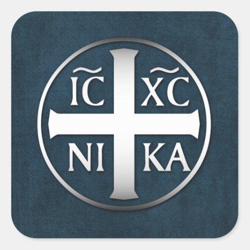 Christogram ICXC NIKA Jesus Conquers Sticker
